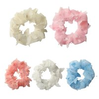 Hair Ring Net yarn butterfly head rope Hairbands Accessories Girls Colorful Scrunchies Headband Elastic Headwear Scrunchy FWB6994