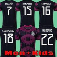 21 22 Mexique Copa Amérique Soccer Jerseys Player Version 2021 Camisetas de Fútbol Lozano Herrera Layun Raul Guardado Vela Tecatito Moreno Foo