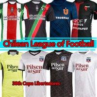 21/22 Jimenez Palestino Deportivo Futbol Formaları 30th Copa Libertadores Parraguez Colón Colo-Colo Futbol Gömlek Montillo Camiseta Universidad de Şili Üniformaları
