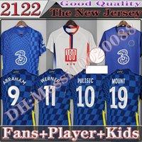 2122 CFC Soccer Jersey Pulisic Ziyech Havertz Kante Werner Abraham Chilwell Mount Jorginho 2022 جيرود كرة القدم قميص 2021 الرجال FSAN لاعب نسخة للأطفال كيت
