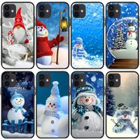 Cartoon Cute Snowman Cell Phone Cases For Iphone 13 12 11 10 8 7 6 5 Pro Max Mini Se X Xr Xs Plus Shockproof Cover Santa Presents Elk