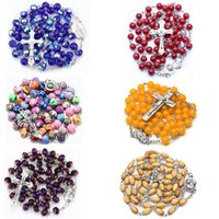 Pendant Necklaces 30 Styles Various Fashion Unisex Handmade Prayer Round Beads Rosary Cross Religious Jewelry Accessories