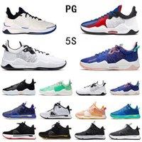 موضة مسحوق أزرق بول جورج PG 5 V أحذية كرة السلة رجالي أعلى جودة كليبرز ولدت أسود أبيض PG5 المدربين الرجال أحذية رياضية رياضية