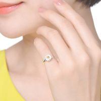 Anneaux pour femme Hommes Costume de bijoux de mode Coréen Zirconie Anneaux de fiançailles strass 925 Sterling Silver Bijoux Anneaux de mariage 585 Q2