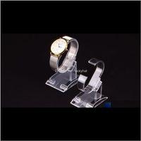700 stücke los klar Kunststoff Schmuck Display Armband Ring Watch Support Stand Halter Showcase Small für Frauen Aelx 3SIPA