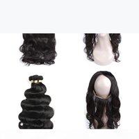 22x4x2 크기 360 바디 웨이브 레이스 정면 처리되지 않은 브라질 인간의 머리카락 번들 360 바디 웨이브 레이스 정면 클로저 브라질 머리카락