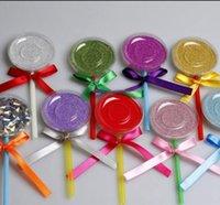 Nice Shimmer Lollipop Lashes Boîte à colis 3D Mink Cils Boîtes Faux Faux Cils Emballage Etuis Etui Vide Eyelash Box Outils cosmétiques
