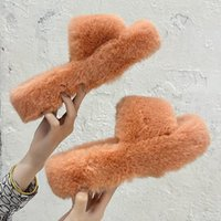 Slippers Faux Fur Home Fluffy Women Slides Comfort Furry Sandals Female Cute Shoes For Indoor Flip Flops Ytmtloy Wedges House