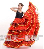 bullfight Casual Dresses Spanish belly big swing opening dance costume show dress skirt