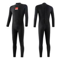 Wetsuits chaude chaude 3mm un morceau de la plongée en apnée mouillée Sunscreen jellyfish surfer costume de plongée femme pure noir