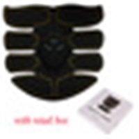 Elektrische EMS Muskelstimulator ABS Bauchmuskel Toner Körper Fitnessformung Massage Patch Siliming Trainer Trainer Unisex