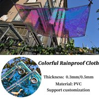 Shade 0.3mm Colorful PVC Rainproof Cloth Balcony Windows Awning Bonsai Succulent Plant Keep Warm Tarpaulin Dog House Cover Waterproof