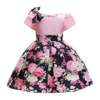 Girl's Dresses O-Neck Elegant Girls Princess Dress Flowers For Wedding Party Kids Summer Children Vestidos 10 Years