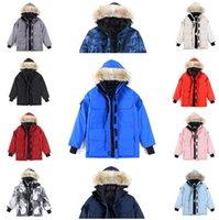 2021 الشتاء رجل كندا المصممين سترة داونز أوز رمادي أسود معطف الكندي أسفل معطف تسمية الرجال النساء معاطف الفراء قميص