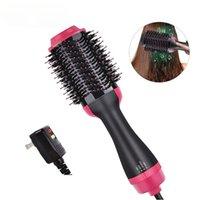 3 em 1 secador de cabelo escova um passo quente escova de ar enrolamento de ferro soprando alisador enrolamento de cabelo secador de cabelo escova ondulando cabelo de ferro quente pente quente