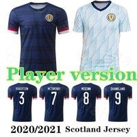 Escócia Versão Versão Jersey 20 21 McGregor Robertson Fraser Naismith Christie Forrest McGinn Camisa de Futebol Homens Uniforme