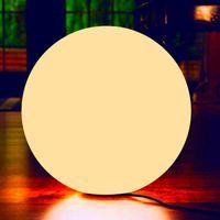 20 см Теплый белый аккумуляторной аккумулятор водонепроницаемый солнечный светодиодный свет открытый сад патио круглый шарик с диммером газон лампы