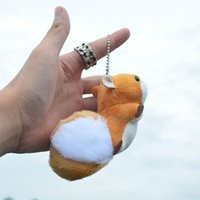 Keychains Cute Mini Squirrel Plush Toy Stuffed Doll Pendant Decorations Oversized Tail Ornament Keychain Toys For GirlFriend Gift