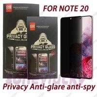 Privacy Anti-Blare Anti-Spy 5D изогнутые полные крышки экрана защитники закаленного стекла для Samsung Note 20 S21 S20 Ultra Plus S10 S8 S9 NOTE10 NOTE8 NOTE9 с пакетом