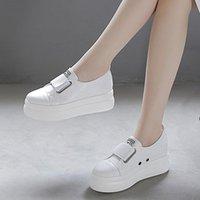Kleid Schuhe Halozeroo Mode Frauen PU Pumps Plattform Beiläufige Schwarz Weiß Gelb mit Hakenloop High Heels Größe 4.5-8 A