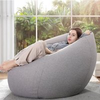 Chair Covers Lazy Sofa Cover Solid Without Filler Inner Bean Bag Pouf Puff Couch Tatami Living Room Furniture Cotton