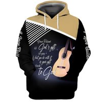 Men's Hoodies & Sweatshirts Drop 3D Full Printing Men Sport Hip Hop Cartoon Guitar USA Big Size Customized Clothing