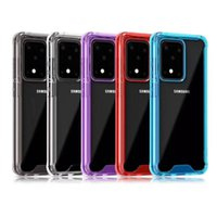 Transparent Crystal Shockproof Acrylic Hard Phone Cases Samsung Galaxy S30 S21 Ultra Note 20 Plus A02 M02 A51 A70E A90 A21S M31S M51 A11 A32 4G A52 A72 Clear Back Cover