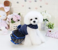 F35B PET princesa vestidos nuevo perro gato verano lindo vestidos perro vestido de verano dulce cachorro boda faldas 426 v2