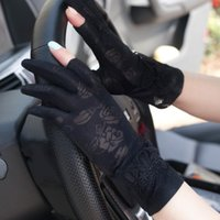 الصيف القيادة قفازات واقية من الشمس سيدة نصف إصبع الصيف رقيقة جدا قصيرة الندى الإصبع اثنين من ركوب الدراجات driver 25R5