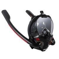 Masque de baignade Visage complet Double Tube de respiration Snorkeling Scuba Scuba Plongée sous-marine Sous-chaussée Masques