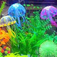 Украшения силиконовые симуляторы медузы плавающие аквариум украшения люминесцентный силикагель ландшафтный дизайн