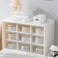 Storage Boxes & Bins Desktop Box 9 Grids Drawer Desk Organizer Makeup Jewelry Cosmetic Earrings Container