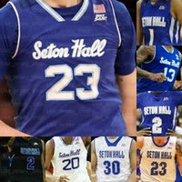 Benutzerdefinierte Seton Hall Basketball Trikots Mamukelashvili Myles Powell McKnight Jared Rhoden Reynolds Romaro Gill Ike Obiagu