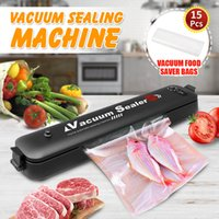110V 220V Household Food Vacuum Sealer 90W Mini Kitchen Packaging Machine Film Sealer Vacuum Packer With 15Pcs Vacuum Saver Bags