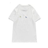 Vêtements à manches courtes pour hommes T-shirt T-shirt T-shirt Vêtements pour femmes Casual Loose Colle Colle Couple Porter 2 couleurs Taille S-XXL
