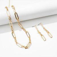 Rectangle Link Necklace,Women Oval Chain Necklace Choker Flat Paperclip Jewelry For Girls,Gold Cable Chains