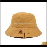 Wide Brim Hats Hats, Scarves & Gloves Aessories Fishermans Bucket Hat Unisex Fashion Sun Caps Hip Hop Gorros Men Women Panama Windproof Visor