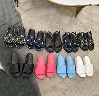Sandalias de la zapatilla de las mujeres de la mejor calidad que aumentan las diapositivas resueltas gruesas Slippers de verano Playa de la playa interior plana flip champs sandalia con caja 02