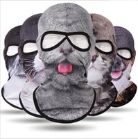 Outdoor Cycling 3D animal Head mask Tactical CS Army Full face protectivel Balaclava Cap Hunting Airsoft Helmet Liner Hat Breathable cooling 2 holes Hood masks