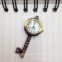 الساعات الجيبية العتيقة watchbronze مفتاح صغير كلاسيكي الطالب العتيقة الكورية سلسلة المفاتيح قلادة قلادة fgggr