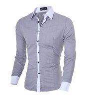 Nova Primavera DOS Homens Marca De Slim Fit Vestido Camisa Masculina Mangas Compridas قمصان رجالية عارضة