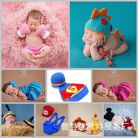 Newborn Baby Cute Crochet Knit Costume Prop Outfits Photo Photography Baby Hat Photo Props New born baby girls Cute Outfit 0-3M 1232 Y2