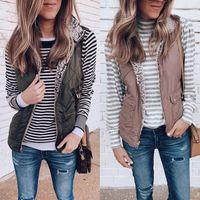 Sell Well New1 Women Sleeveless Winter Jacket Warm Waistcoat Vest Coat Reversible Casual Cost-effective