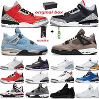 Nike Air Jordan 4 3 Erkekler Tasarımcı Basketbol Ayakkabı Tinker Mocha Katrina JTH NRG Ücretsiz Atma Hattı Siyah Çimento Kore Saf Beyaz Üst Eğitmen Spor Sneaker
