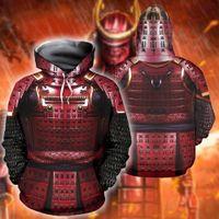 Женские толстовки для толстовки Sonspee мода Смешные рыцарские брони 3D напечатанные мужчины Samurai одежда уличная одежда Homme Pullover с капюшоном C67M