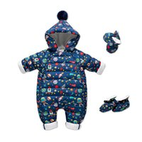 Baby Rompers Winter Newborn Down Coat Bodysuits Infant Babies Clothes Girls Boys Jumpsuit Hooded One Piece Clothing Toddler Outwear Keep Warm Cartoon Cute B8766
