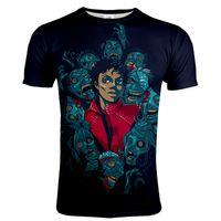 2021 Michael Jackson 3D Tryckt T-tröja Män Kvinnor Mode Streetwear O-Hals Casual Tshirt Unisex Trendy Hip Hop T-shirt Toppar