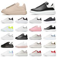 Alexander McQueen Mcqueens Freizeit Schuhe Laufschuhe Alle Weiß Schwarz Wildleder Glitzer Damen Herren Luxus Designer Outdoor Sports Sneakers