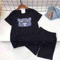 Designer bebê crianças vestuário2021 verão manga curta t-shirt moda meninos e meninas meia manga t-shirt curta t infantil roun