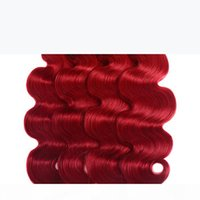 Ombre 1b Red Body Wave Hair Weaves 3pcs Two Tone Red Brazillian Virgin Human Hair Extensions Cheap Wavy Dark Root Red Ombre Bundles